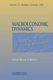 Macroeconomic Dynamics Volume 23 - Issue 1 -