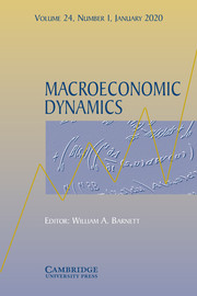 Macroeconomic Dynamics Volume 24 - Special Issue1 -  Macroeconomic Modeling and Empirical Evidence in the Wake of the Crisis