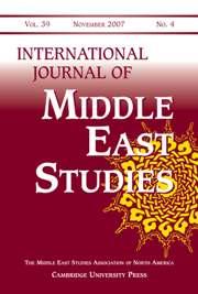 International Journal of Middle East Studies Volume 39 - Issue 4 -