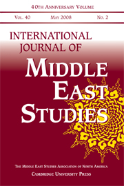 International Journal of Middle East Studies Volume 40 - Issue 2 -