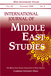 International Journal of Middle East Studies Volume 40 - Issue 4 -