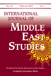 International Journal of Middle East Studies Volume 42 - Issue 1 -