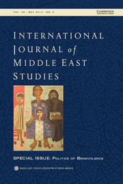 International Journal of Middle East Studies Volume 46 - Issue 2 -  Politics of Benevolence