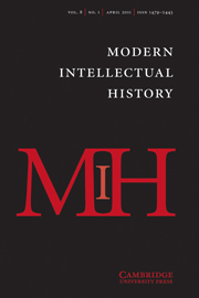 Modern Intellectual History Volume 8 - Issue 1 -