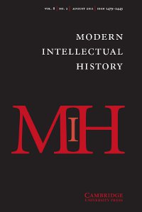 Modern Intellectual History Volume 8 - Issue 2 -