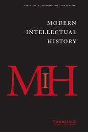 Modern Intellectual History Volume 9 - Issue 3 -