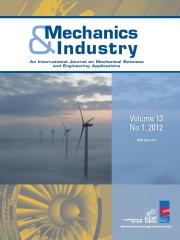 Mechanics & Industry Volume 12 - Issue 6 -