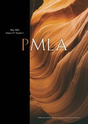 PMLA / Publications of the Modern Language Association of America