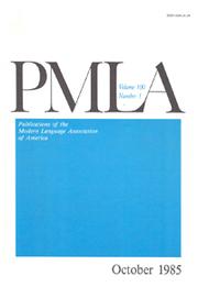 PMLA Volume 100 - Issue 5 -
