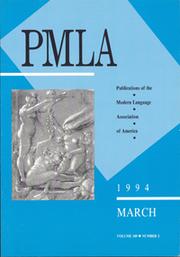PMLA Volume 109 - Issue 2 -