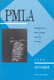 PMLA Volume 109 - Issue 5 -