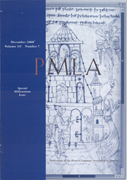 PMLA Volume 115 - Issue 7 -  Special Millennium issue