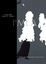PMLA Volume 121 - Issue 5 -