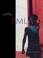PMLA Volume 122 - Issue 3 -