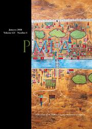 PMLA Volume 123 - Issue 1 -