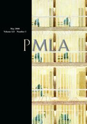 PMLA Volume 123 - Issue 3 -