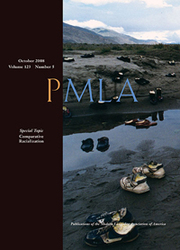 PMLA Volume 123 - Issue 5 -  Special Topic Comparative Racialization
