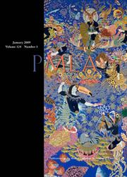 PMLA Volume 124 - Issue 1 -