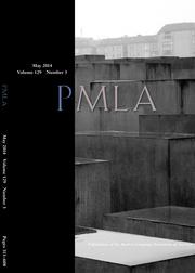 PMLA Volume 129 - Issue 3 -