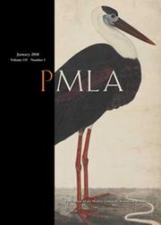 PMLA Volume 133 - Issue 1 -
