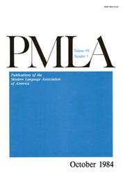 PMLA Volume 99 - Issue 5 -