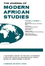 The Journal of Modern African Studies Volume 42 - Issue 2 -