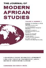 The Journal of Modern African Studies Volume 43 - Issue 2 -