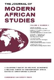 The Journal of Modern African Studies Volume 43 - Issue 4 -