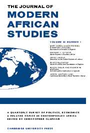 The Journal of Modern African Studies Volume 44 - Issue 1 -