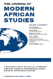 The Journal of Modern African Studies Volume 44 - Issue 3 -