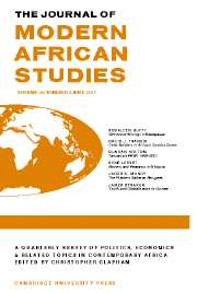 The Journal of Modern African Studies Volume 45 - Issue 2 -