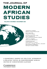 The Journal of Modern African Studies Volume 46 - Issue 4 -