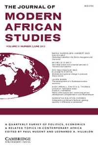 The Journal of Modern African Studies Volume 51 - Issue 2 -