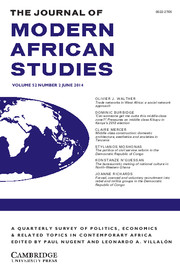 The Journal of Modern African Studies Volume 52 - Issue 2 -