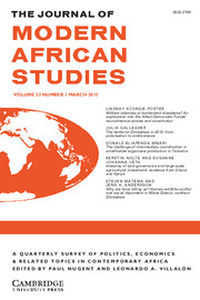 The Journal of Modern African Studies Volume 53 - Issue 1 -