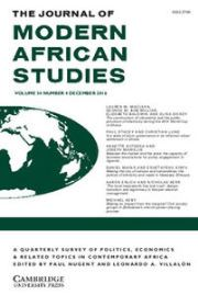 The Journal of Modern African Studies Volume 54 - Issue 4 -