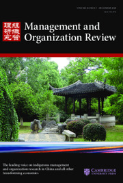 Management and Organization Review Volume 16 - Issue 5 -