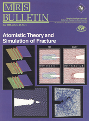 MRS Bulletin Volume 25 - Issue 5 -  Theory and Simulation of Fracture