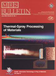 MRS Bulletin Volume 25 - Issue 7 -  Thermal Spray Coatings