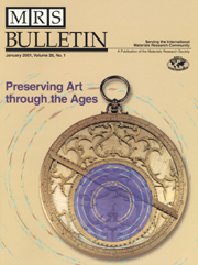 MRS Bulletin Volume 26 - Issue 1 -  Preserving Art through the Ages