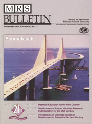 MRS Bulletin Volume 26 - Issue 11 -  Ecomaterials