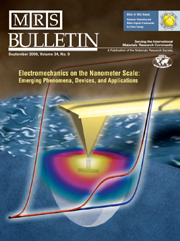 MRS Bulletin Volume 34 - Issue 9 -  Electromechanics on the Nanometer Scale: Emerging Phenomena, Devices, and Applications
