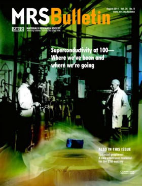 MRS Bulletin Volume 36 - Issue 8 -  Superconductivity at 100—Where we've been and where we're going