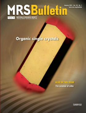 MRS Bulletin Volume 38 - Issue 1 -  Organic single crystals