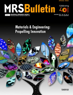 MRS Bulletin Volume 40 - Issue 12 -  Materials & Engineering: Propelling Innovation
