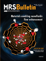 MRS Bulletin Volume 42 - Issue 4 -  Materials Enabling Nanofluidic Flow Enhancement