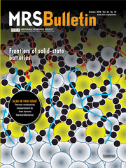 MRS Bulletin Volume 43 - Issue 10 -  Frontiers of Solid-State Batteries
