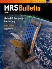 MRS Bulletin Volume 43 - Issue 3 -  Materials for Energy Harvesting