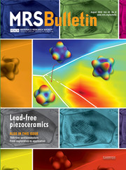 MRS Bulletin Volume 43 - Issue 8 -  Lead-free Piezoceramics