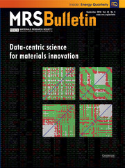 MRS Bulletin Volume 43 - Issue 9 -  Data-Centric Science for Materials Innovation